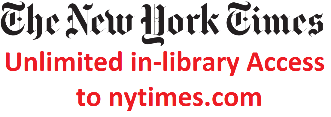 Unlimited access to nytimes.com in the libraryl