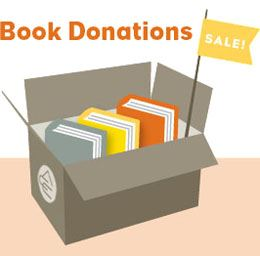 box of book donations
